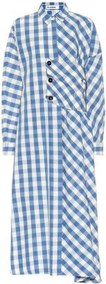 Jil Sander Checked cotton midi dress