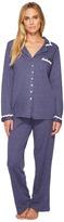 Eileen West Cotton Interlock Notch Collar Pajamas Women's Pajama Sets