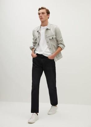 MANGO MAN - Regular fit black Bob jeans black denim - 28 - Men