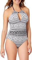 Liz Claiborne Geometric One Piece Swimsuit