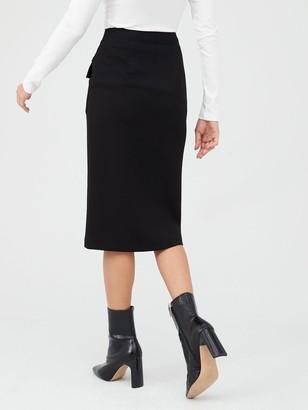 Very Zip Front Pencil Skirt