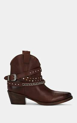 FiveSeventyFive Women's Western Leather Ankle Boots - Brown
