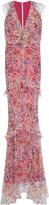 Saloni Rita Ruffled Floral Gown