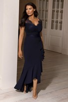 Jessica Wright Sistaglam LOVES AMIANNE NAVY LACE TOP DRESS