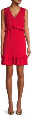 Emma & Michele Ruffled Mini Dress