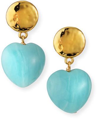Nest Jewelry Amazonite Heart Drop Earrings