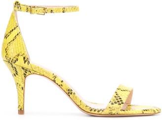 Schutz Embossed Snakeskin-Effect Sandals