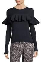 Apiece Apart Ruffle Front Knit Sweater