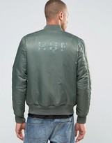 HUF Reversible MA1 Bomber Jacket With Back Print