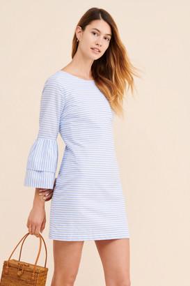 ENGLISH FACTORY Striped Ruffle Sleeve Dress