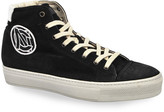 CNC Costume National Men's High-Top Suede Sneakers w/ Embroidered Logo