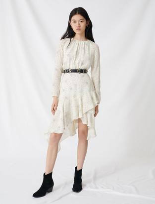 Maje Floaty, asymmetric star-print dress