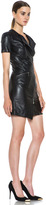 McQ by Alexander McQueen Zip Leather Dress in Black