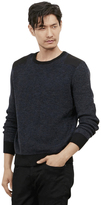 Kenneth Cole Felt Accent Crew Sweater