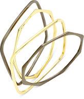 Charter Club Two-Tone Geometric Bangle Bracelet Set