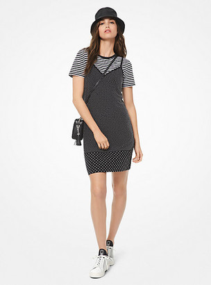 Michael Kors Studded Matte-Jersey Slip Dress