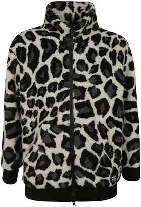 MSGM Animal Print Zipped Jacket