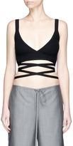 Alexander Wang Ribbed knit wrap bra