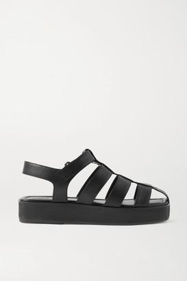PORTE & PAIRE Leather Sandals - Black