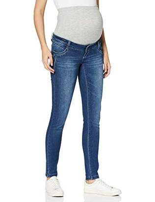 Mama Licious Mamalicious Women's Mlglobe Ankle Slim Medium Blue Jeans A. Maternity Trousers, Denim, 30W x 32L