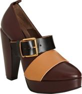 Marni Tricolor Mary Jane Platform Pump