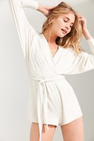 Silence & Noise Silence + Noise Talia Surplice Belted Romper