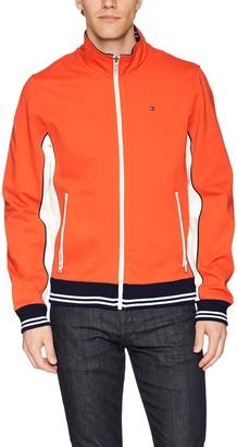 Tommy Hilfiger Men's Stand Collar Retro Colorblock Track Jacket