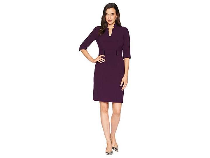 e5536e873a7 Purple 3 4 Sleeve Dresses - ShopStyle