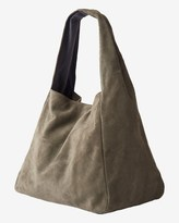 Toast Suede Tote Bag