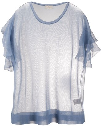 Altea ruffled sleeve fine-knit T-shirt
