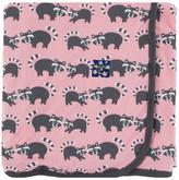 Kickee Pants Raccoon Swaddle Blanket