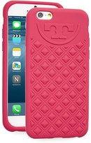 Tory Burch Marion Quilted Silicone Iphone 6/6S Case - Blue