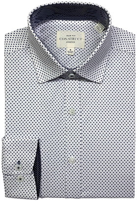 Construct Small Geo Print Slim Fit Dress Shirt