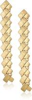 "Robert Lee Morris Primal Connection"" Geometric Rectangle Linear Drop Earrings"