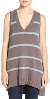 LAmade Sleeveless Stripe Tunic Sweater