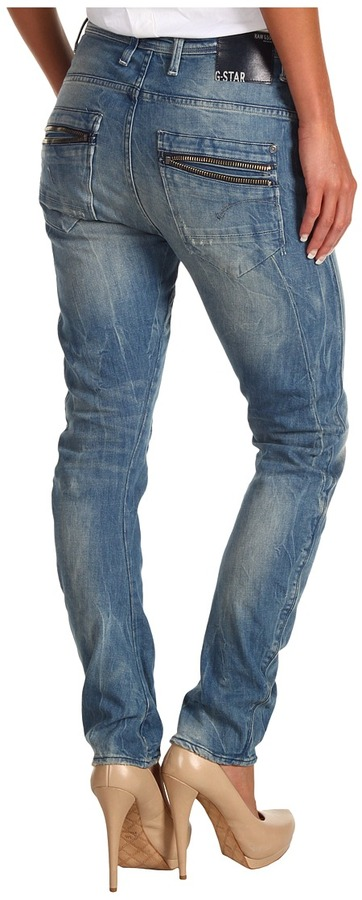 G Star G-Star - Arc Ocean Tapered Jean in Comfort Ferb Denim Medium Aged (Comfort Ferb Denim Medium Aged) - Apparel