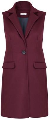 Allora Wool Cashmere Sleeveless Coat - Bordeaux