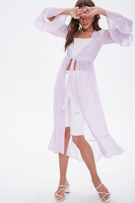 Forever 21 Sheer Chiffon Kimono