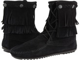 Minnetonka Double Fringe Front Lace Boot Women's Lace-up Boots