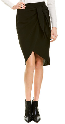 City Sleek Tie-Front Pencil Skirt