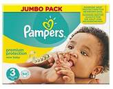 Pampers New Baby Size 3 (Midi) Jumbo Pack 68 Nappies - Pack of 2