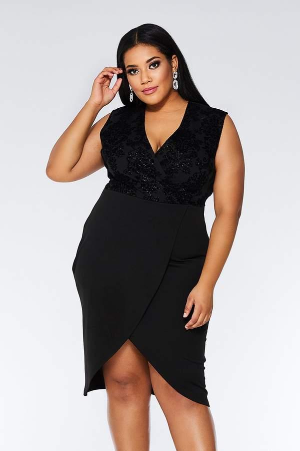 01f35572 Quiz Wrap Front Dresses - ShopStyle UK