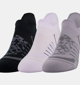 Under Armour Women's UA Breathe No Show Tab 3-Pack Socks