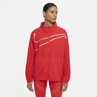 Nike Women's Woven Full-Zip Top Pro