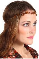 Jane Tran Beaded Topaz Leaf Headband
