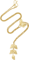 LFrank The Twin Oak Leaf Charm Necklace