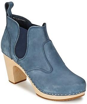 Swedish Hasbeens OPERA BOOTIE women's Low Boots in Blue
