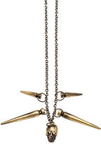 Obey The Slay Necklace in Antique Brass