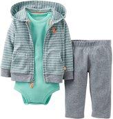 Carter's Baby Boys' 3 Piece Cardigan Set (Baby) - /Green
