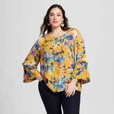 Ava & Viv Women's Plus Size Bell Sleeve Top